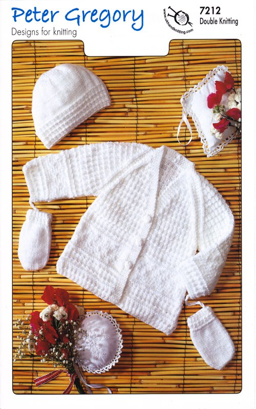 Scarves Knitting Patterns Free : Peter Gregory Baby Double Knitting Pattern Cardigan Accessories Hat Mittens 7...