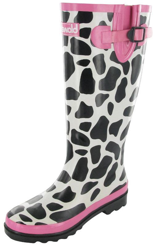 Ladies Cow Print Wellies Sizes UK 3-8 Womens Wellington Boots ...