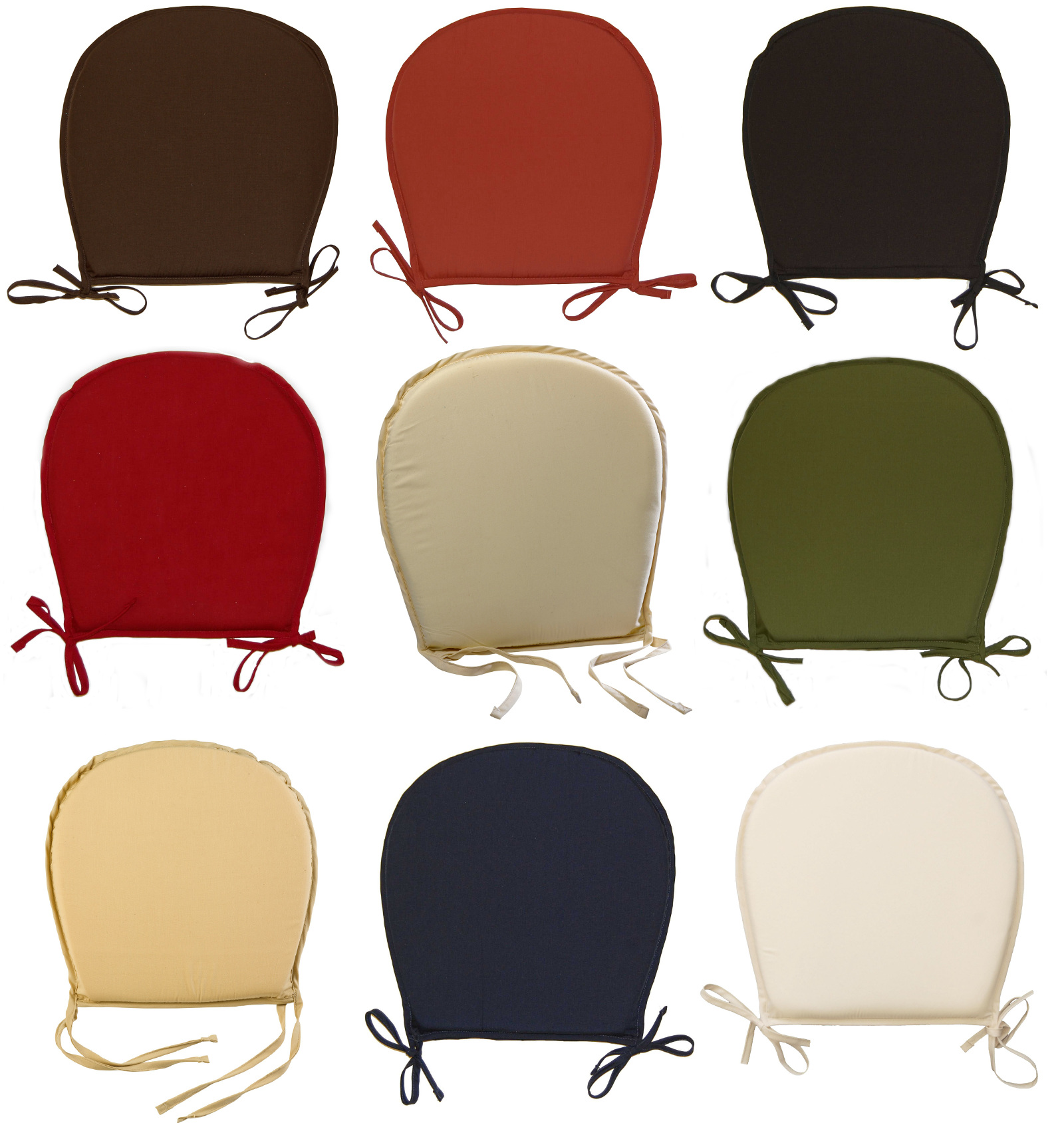 Round Kitchen Seat Pad Garden Furniture Dining Room Chair