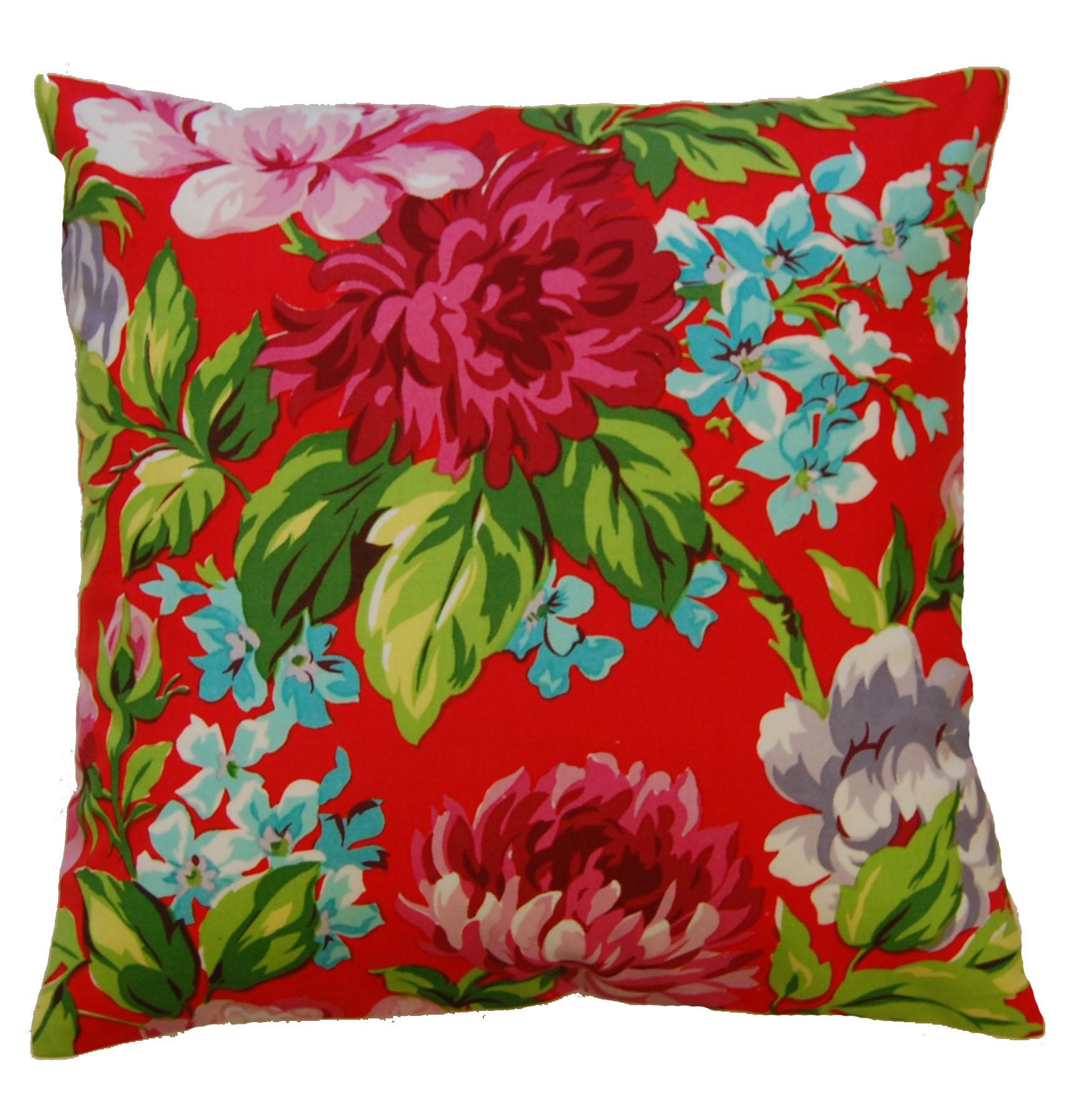 """Dahlia Flower Print Cushion Covers 18"""" x 18"""" Modern Floral ..."""