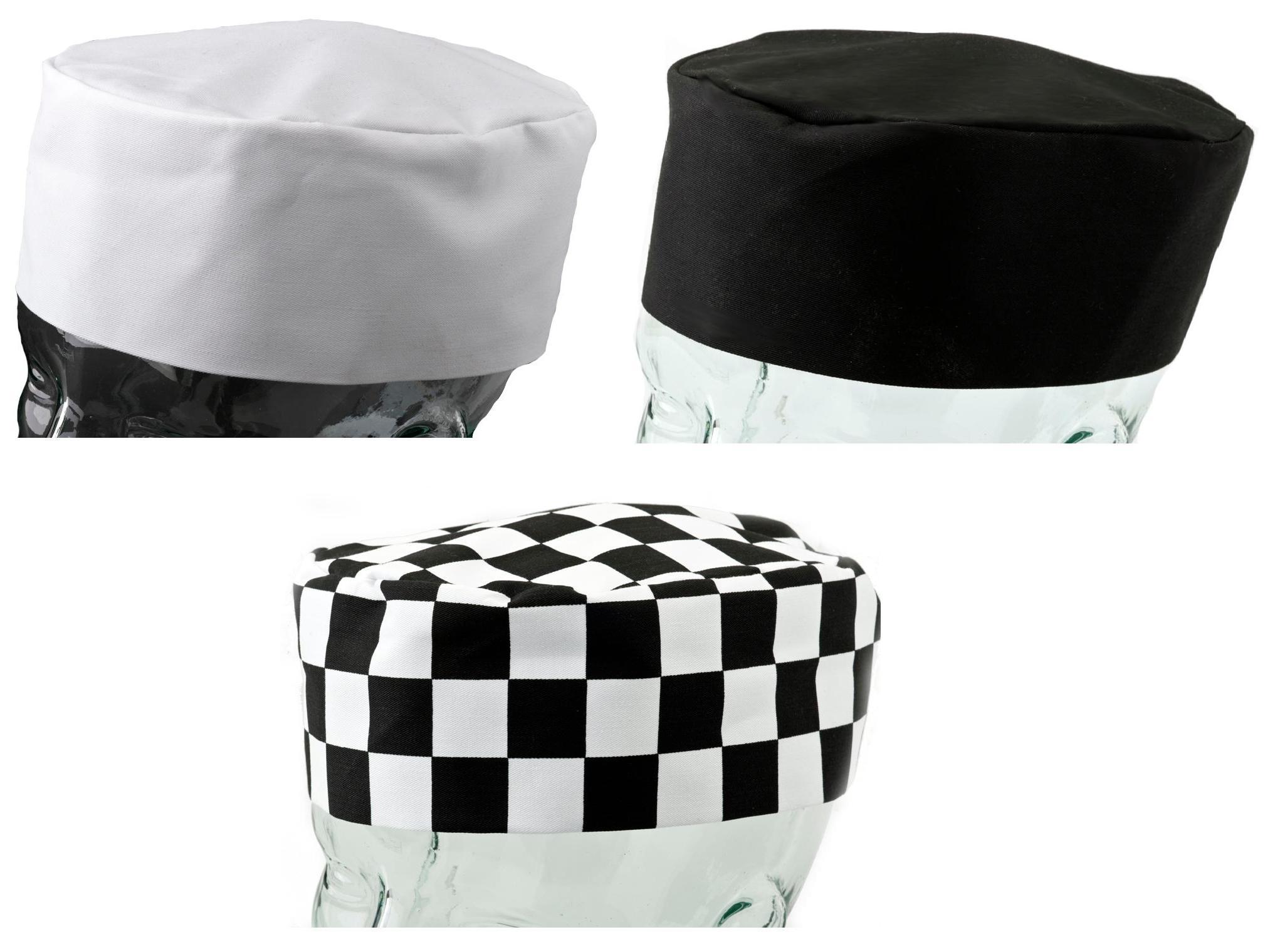 Professional Chefs Hat Black White Check Kitchen Cooks
