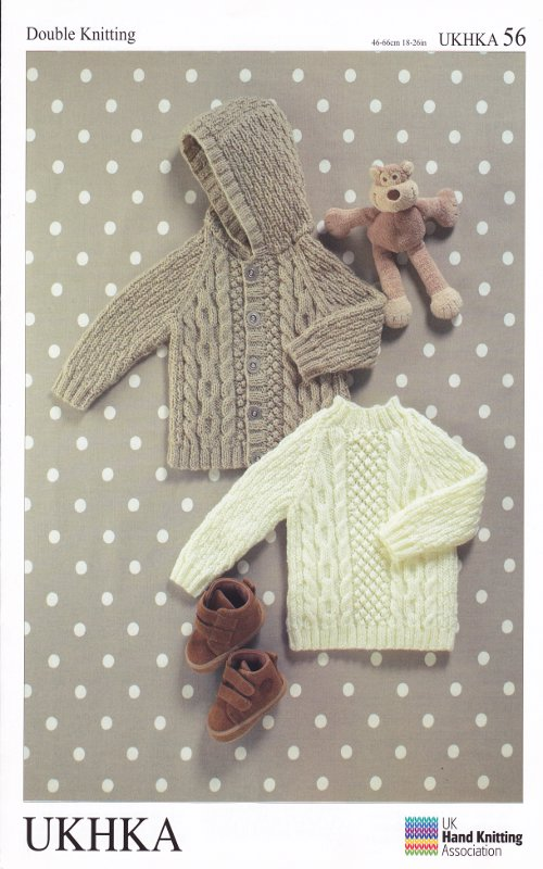 Ukhka Knitting Patterns : Double knitting dk pattern baby long sleeved jacket