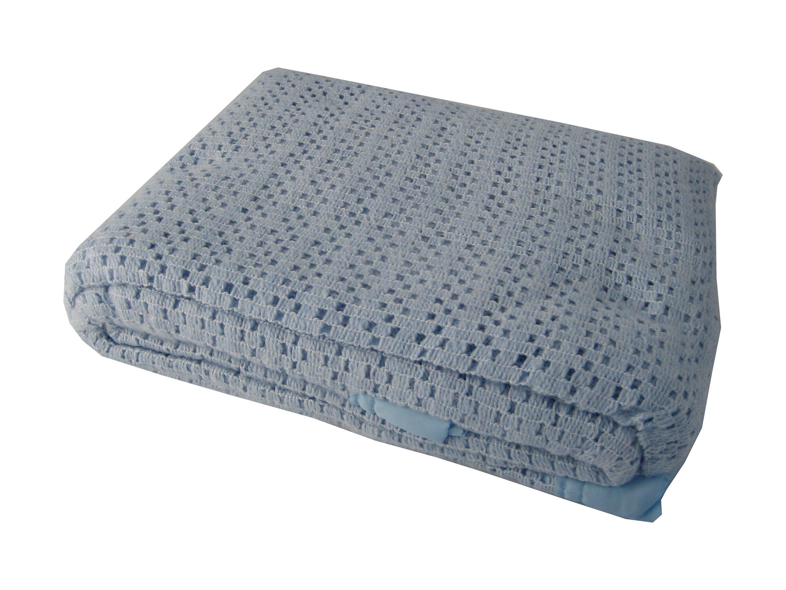 Lightweight Cellular Blankets Acrylic Satin Edged
