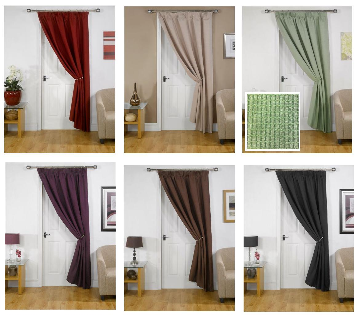 Eco friendly door curtains insulating thermal lining block for Eco friendly doors