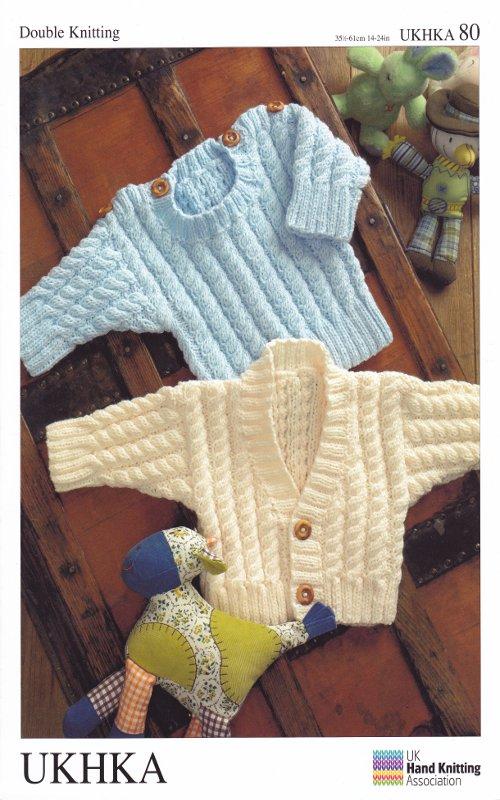 Double Knitting Pattern Baby Long Sleeve Cardigan Sweater ...