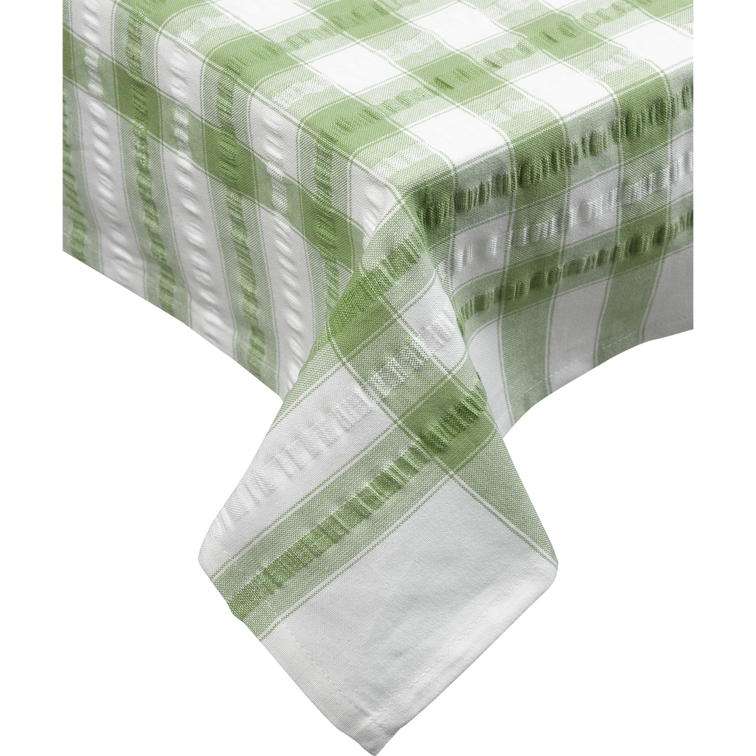 Cotton Seersucker Tablecloth Kitchen Dining Room Garden Check Table Linen Cov