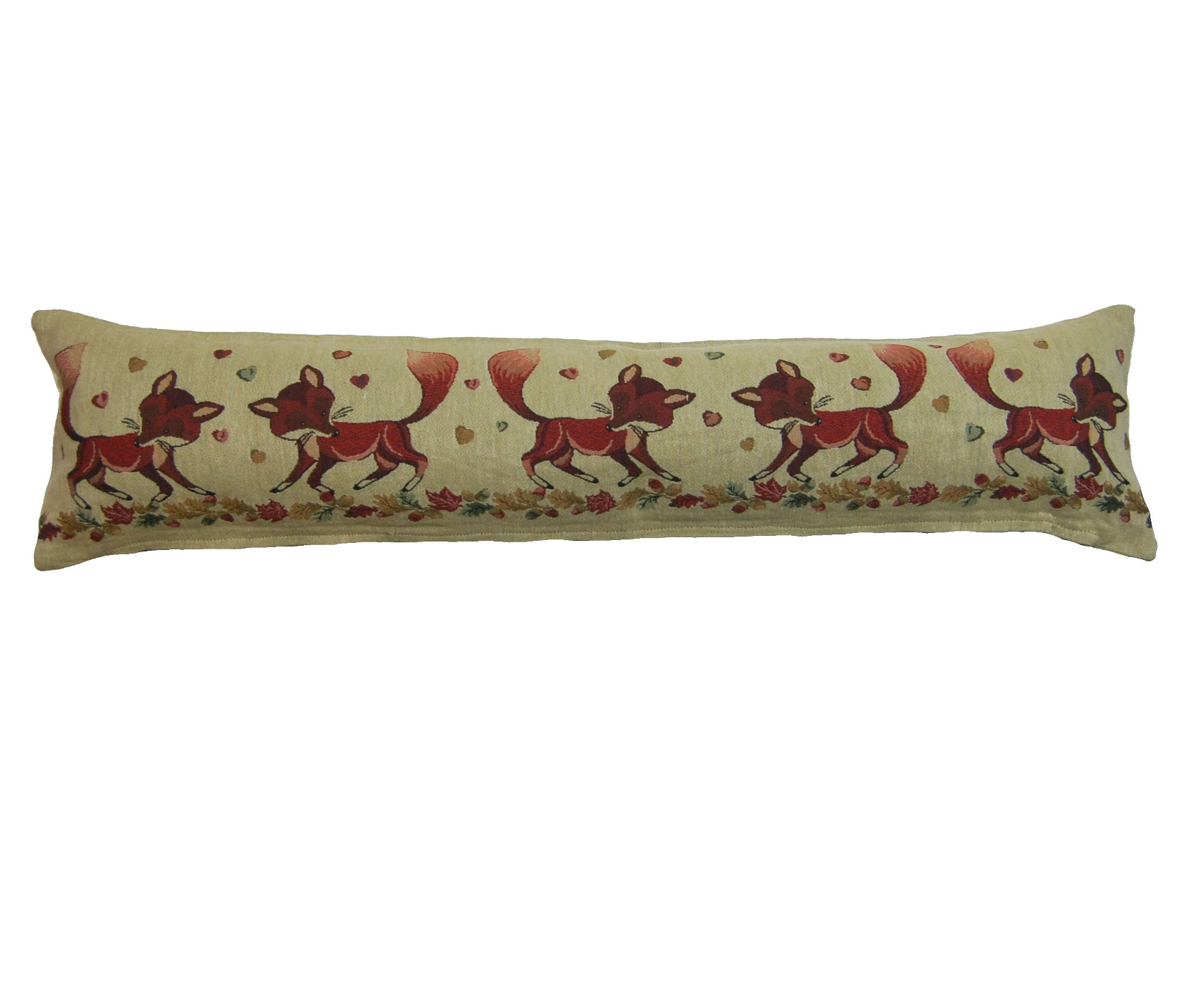 Tapestry style animals fabric draught excluder door stop for Door draft excluders