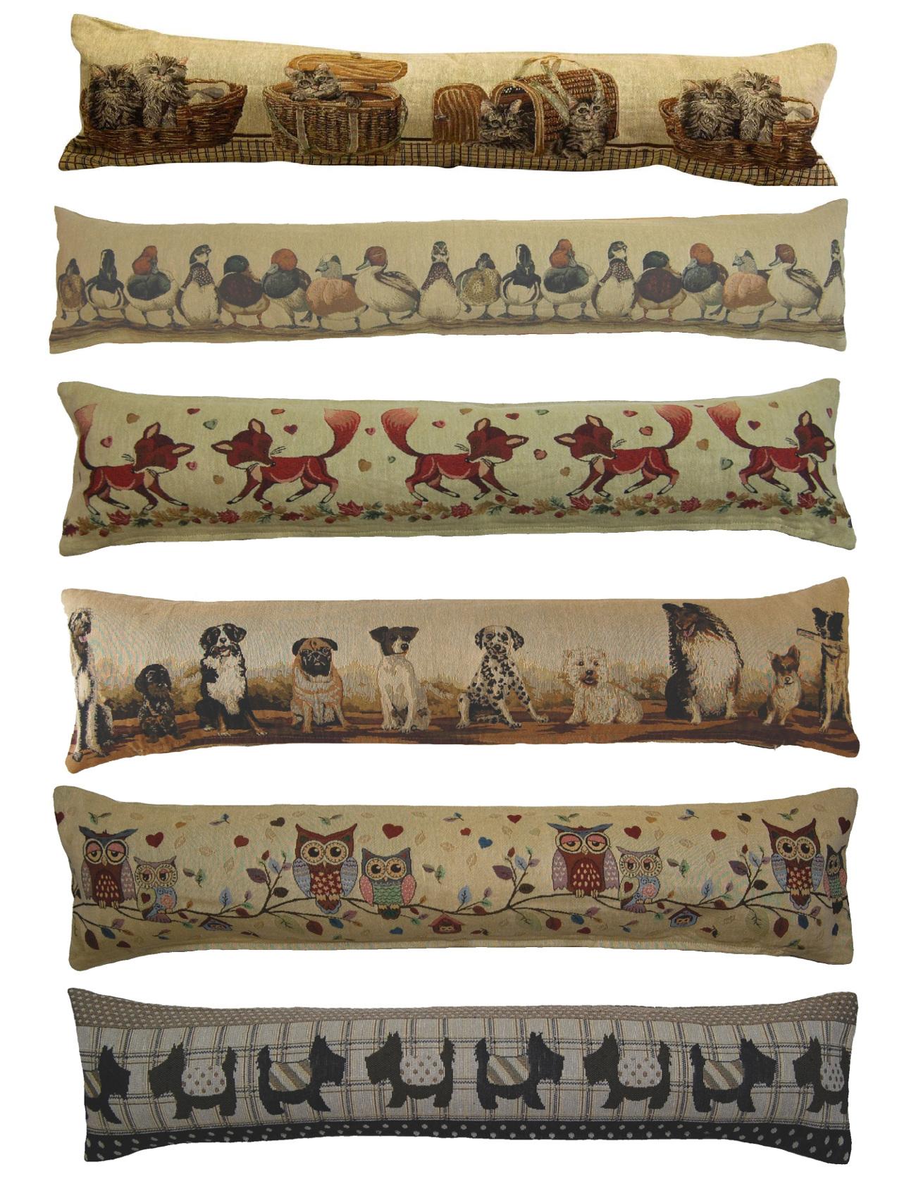 Animal Design Tapestry Draught Excluder Fabric Door Window
