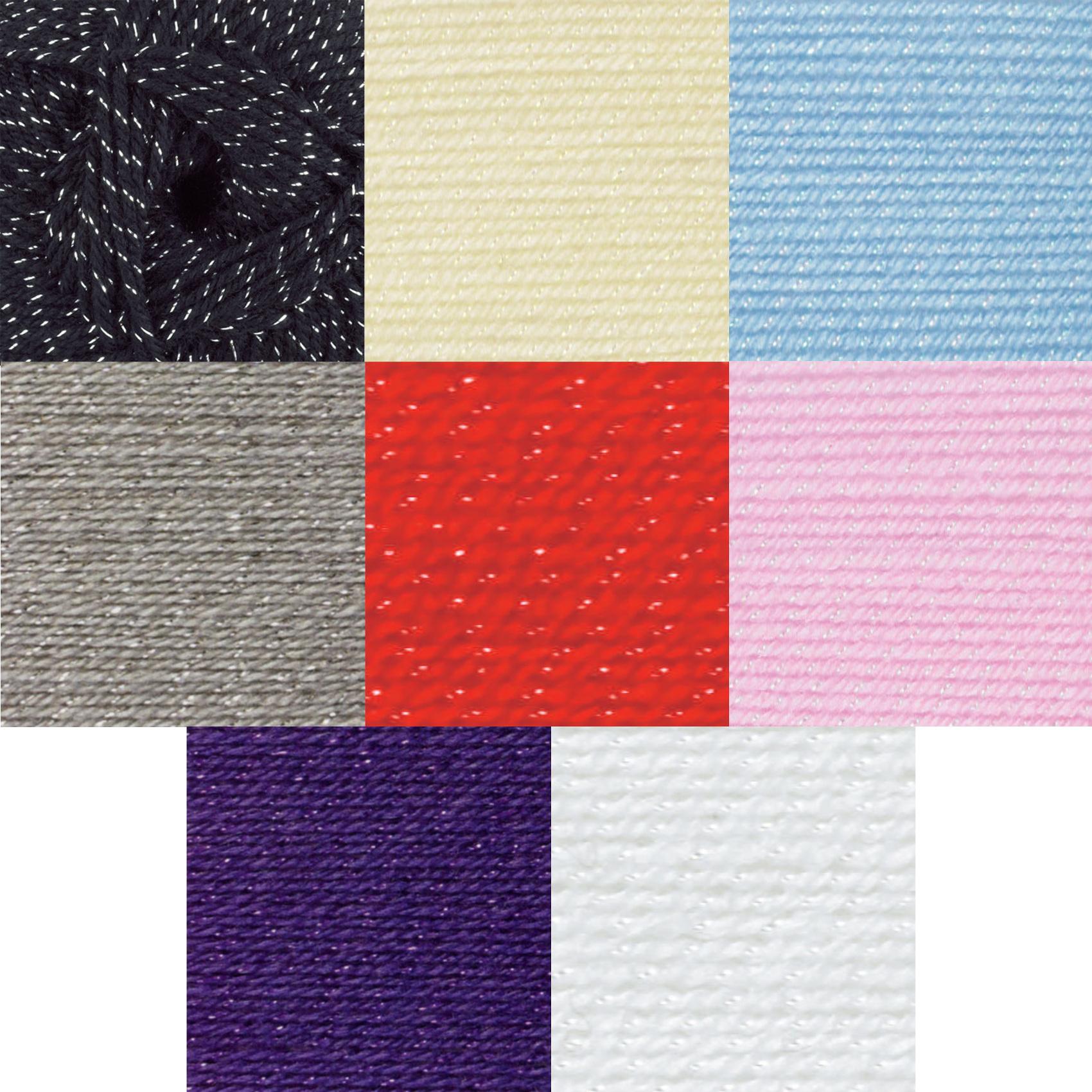 James Brett Twinkle Fashion DK Double Knitting Wool 100g Glitter Sparkle Yarn...