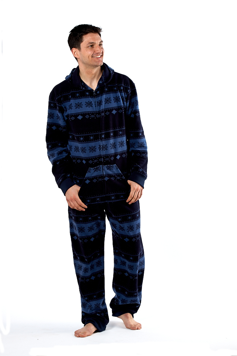 homme fairisle grenouill re polaire pyjama combinaison. Black Bedroom Furniture Sets. Home Design Ideas