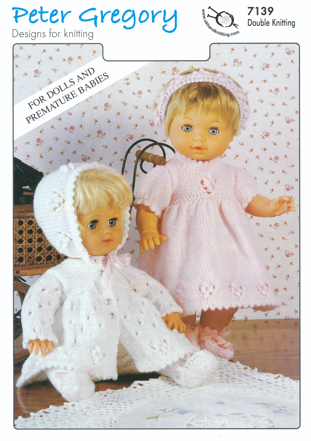 Scarves Knitting Patterns Free : Baby DK Double Knitting Pattern Premature Babies Dolls Outfits Jacket Dress 7...