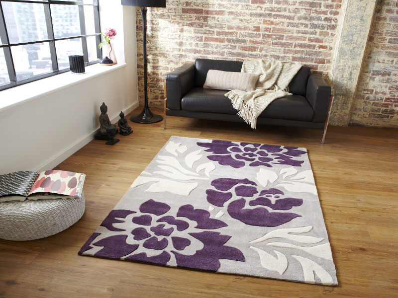 multi textured soft rug modern design tufted floor