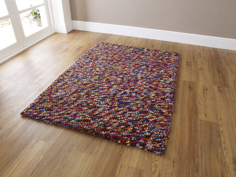 pebbles effect hand knotted large floor mat 100% wool soft heavy