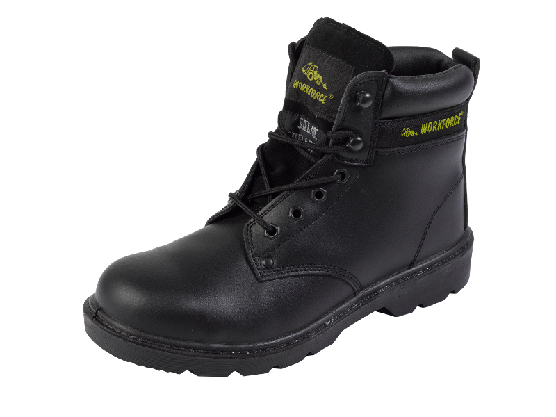 mens genuine leather lace up safety boots grade s3