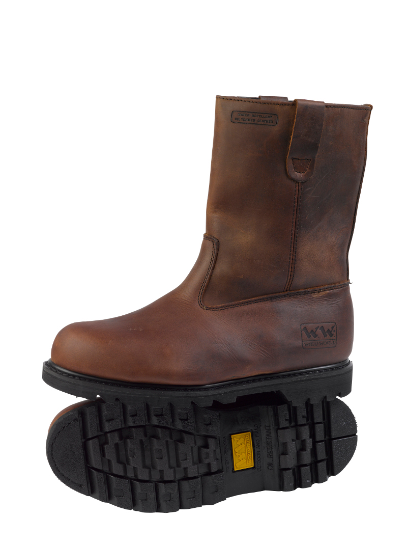 mens leather fleece lined industrial safety rigger boots