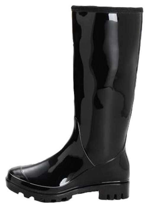 Ladies Plain Black Snow Wellington Boots UK 3-9 Waterproof ...