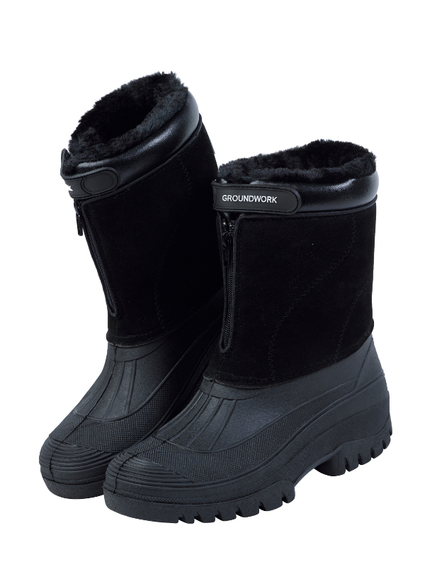 Stable Yard Mens Muck Boots Fleece Lined Zip Up Outdoor Riding ...
