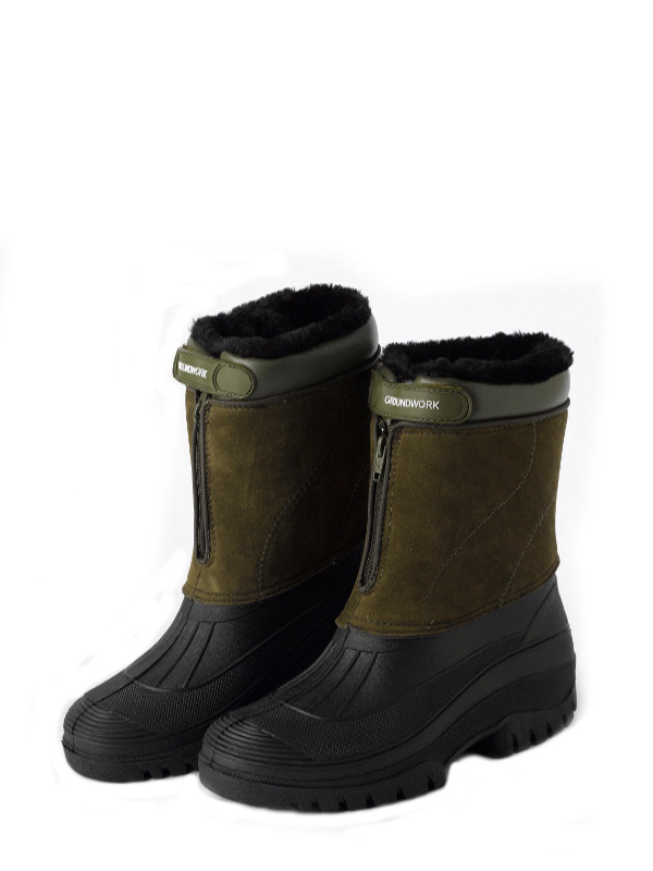 Stable Yard Ladies Muck Boots Fleece Lined Zip Up Girls Outdoor ...