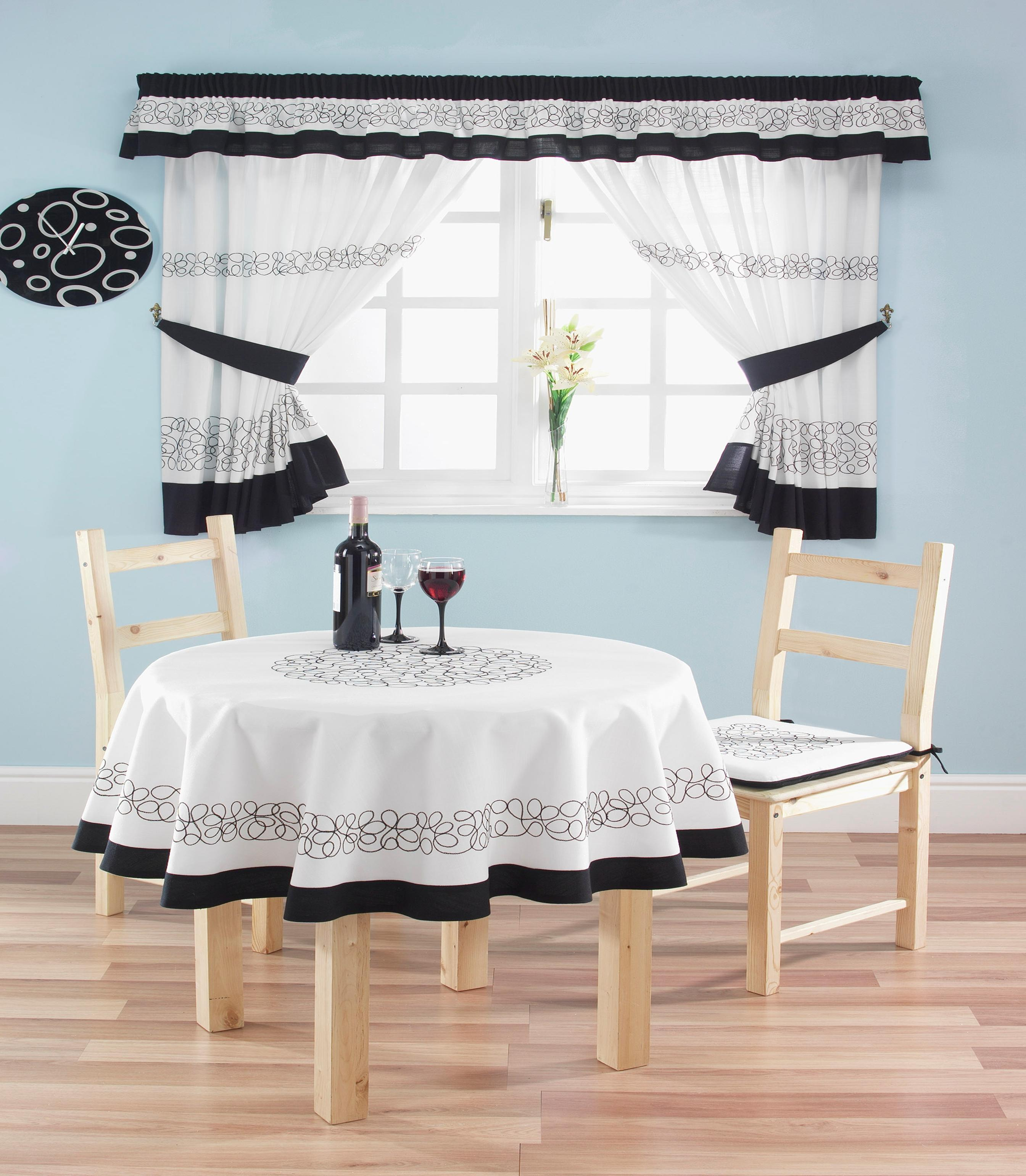 Modern Country Kitchen Curtains With Tie Backs 66x54