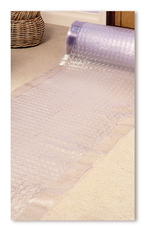 Heavy duty 183cm x 69cm clear vinyl carpet floor protector long hallway runner - Decorating carpet protector ...