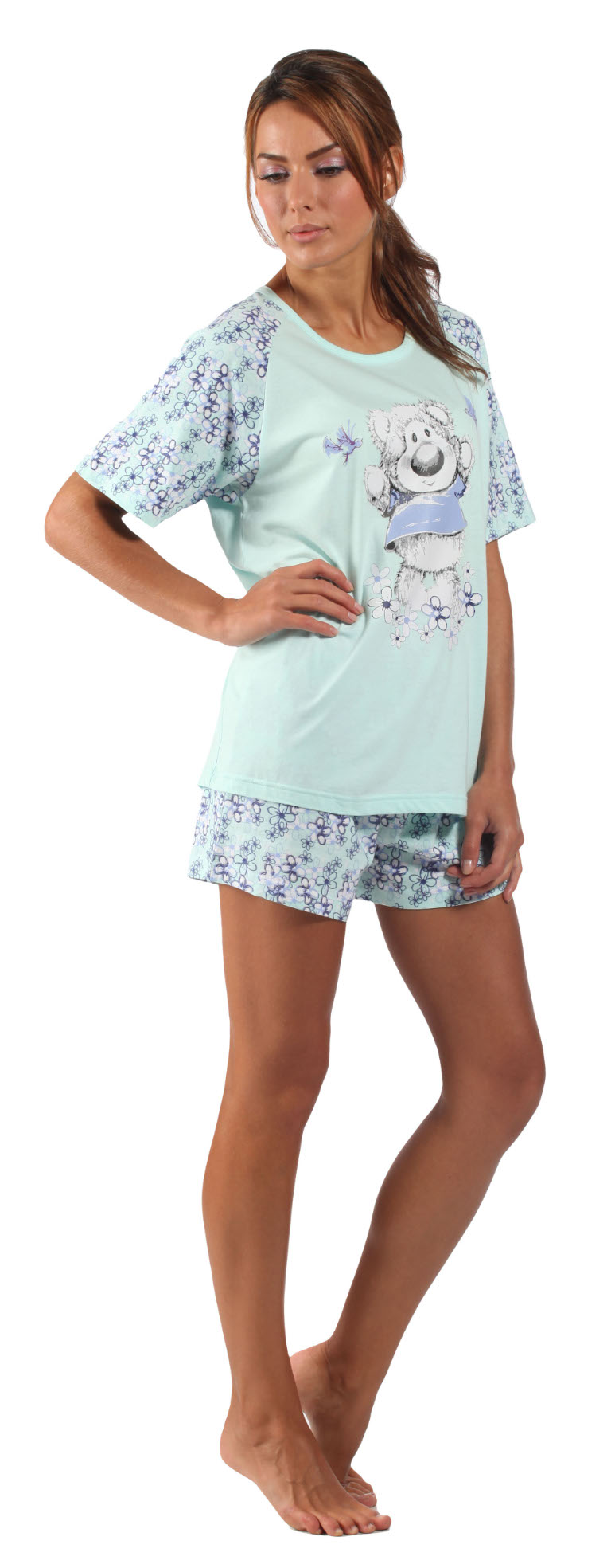 Short sets fit like a breeze. You'll flit about your personal space without cumbersome clothing, carrying out the day's chores in the cutest brand of comfort. Patterns ranging from cake to watermelons imbue another layer of quirky put-togetherness. These short sets exist on the thin line between pajamas and regular clothes, ensuring you won't feel underdressed or unprepared to tackle.