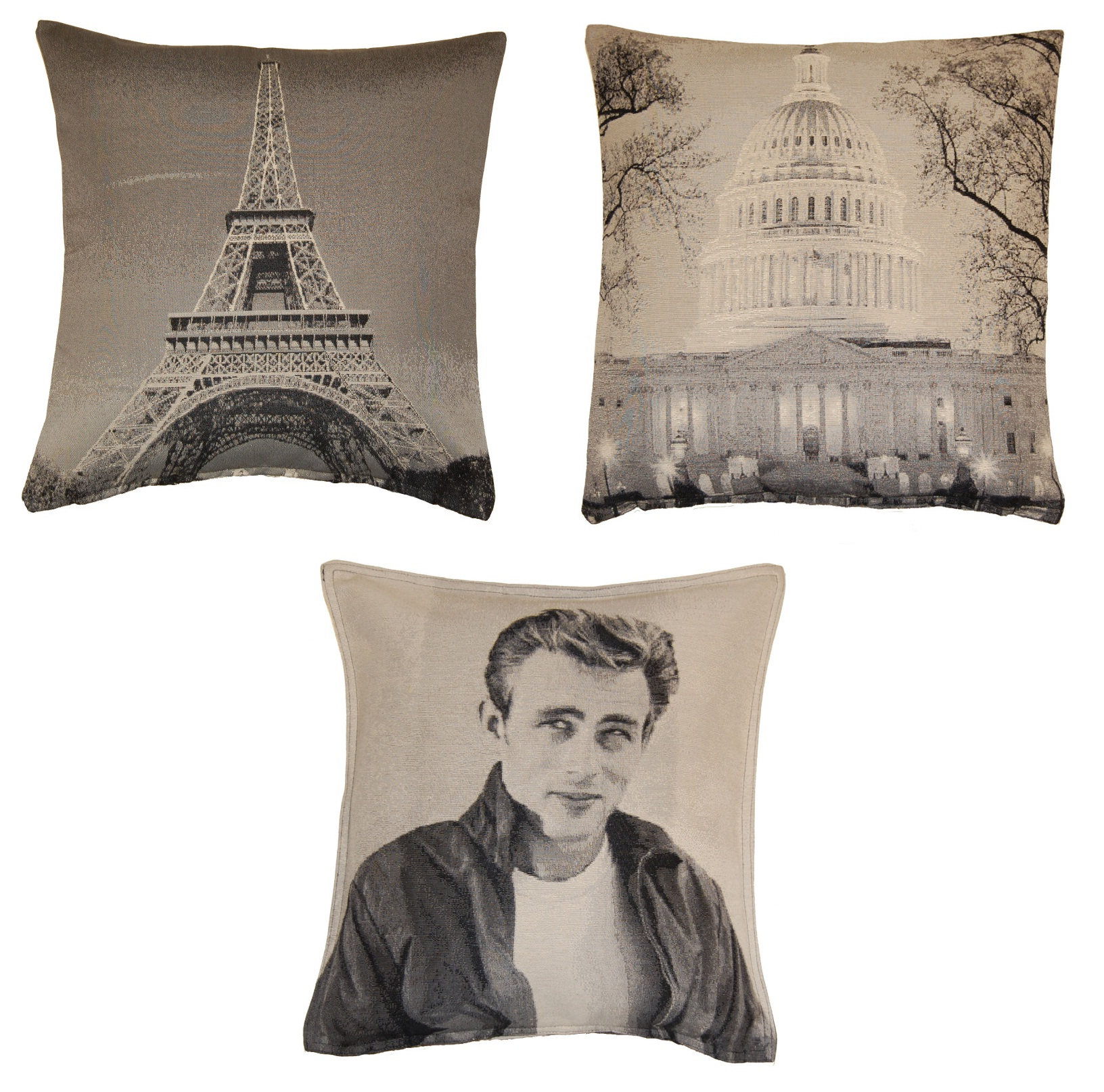 Retro 18 Scatter Cushion Covers Famous Faces Places
