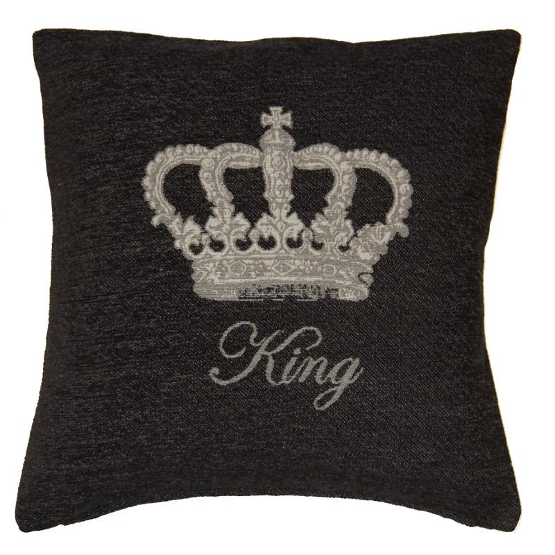 Kissenbezug Chenille King Oder Queen Krone 46 X