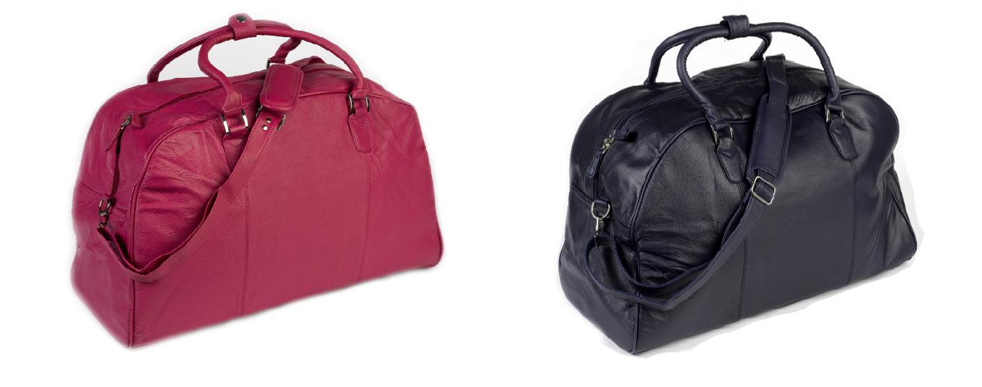 Ladies leather weekend bag - : Mince His Words