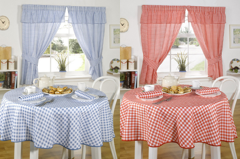 Blue And White Checkered Curtains - Rooms
