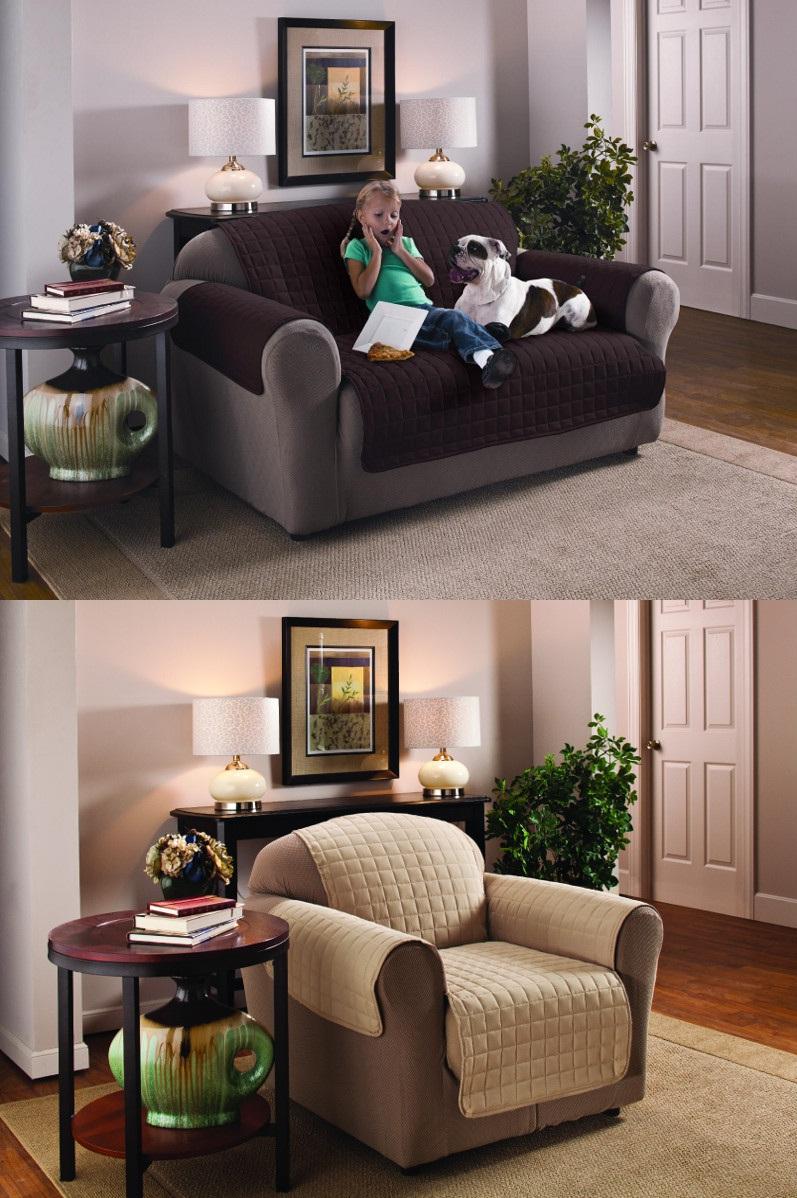 sofa schutz berwurf gesteppt wasserabweisend. Black Bedroom Furniture Sets. Home Design Ideas