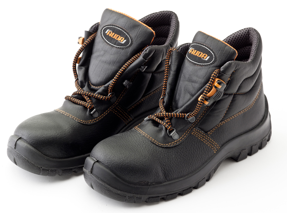 Mens Leather Safety Boots Lightweight Auda Black Work Shoes UK 11 EU46 Grade S3 | EBay