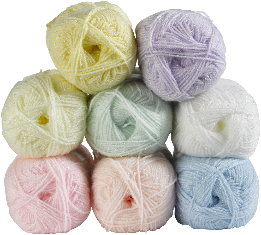 Knitting Yarn : ... -Baby-Shimmer-Double-Knitting-DK-Wool-Machine-Washable-Sparkle-Yarn