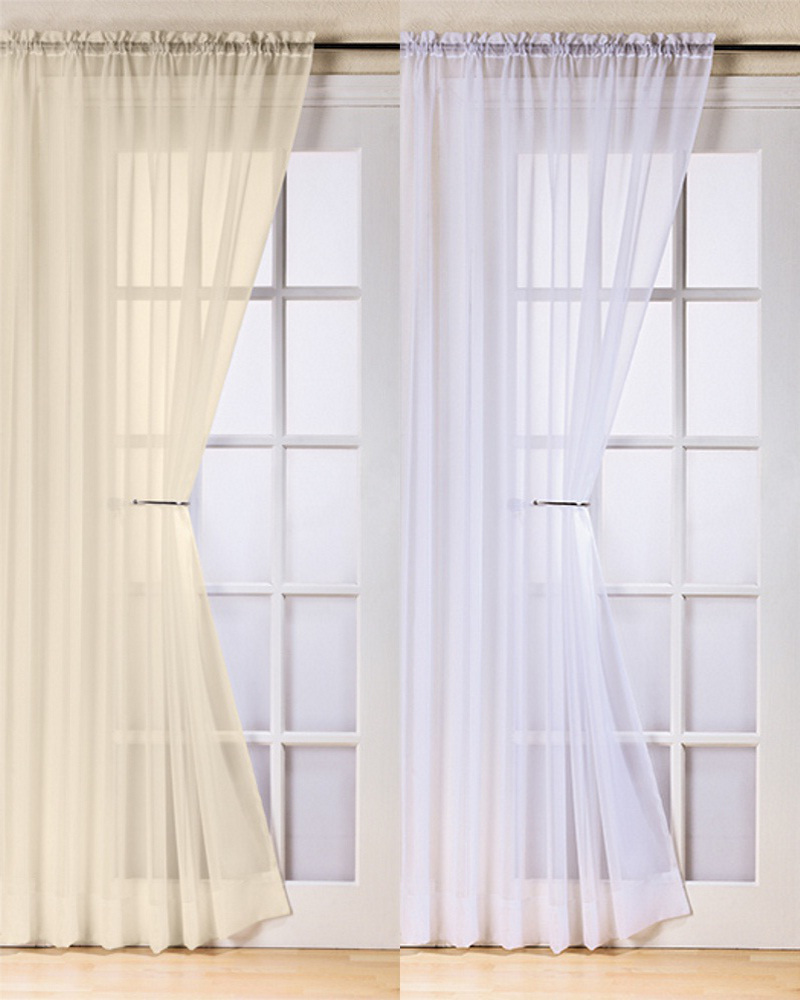 window curtain traditional slot 6 cm top plain trent net voile panel