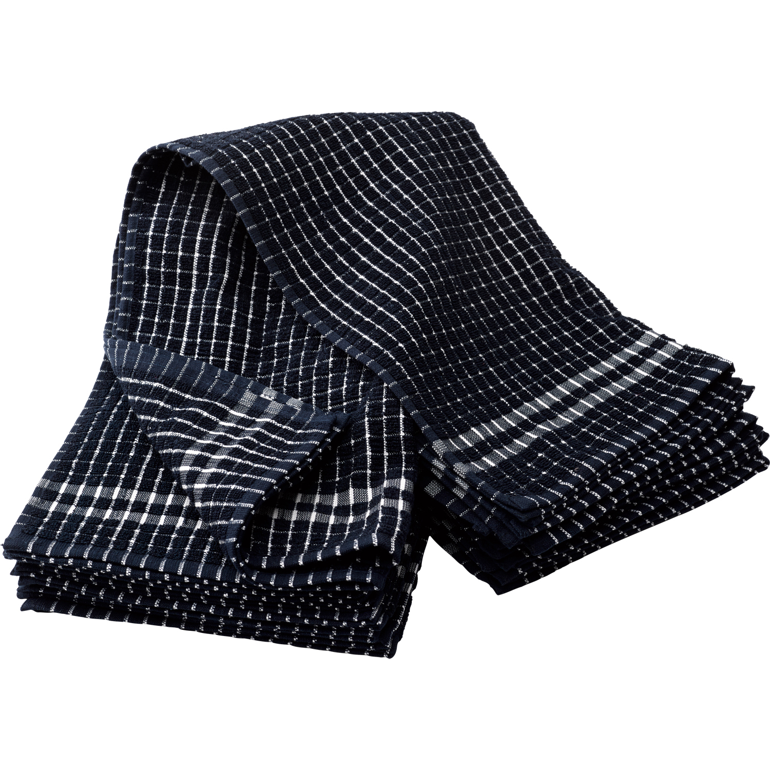 Good Item Description These Heavyweight Checked Tea Towels. Navy Blue ...