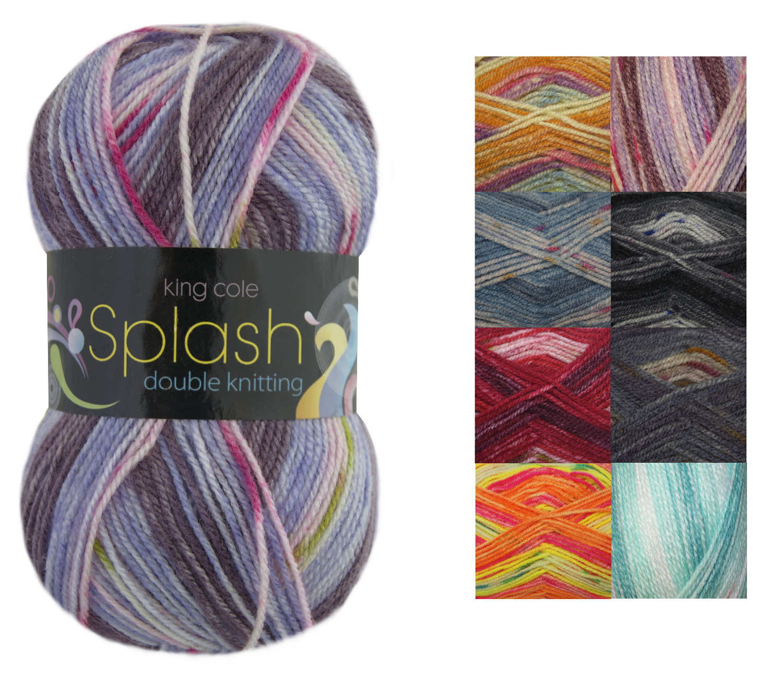 100g Ball Splash DK Double Knitting Wool King Cole Premium Acrylic Soft Yarn ...