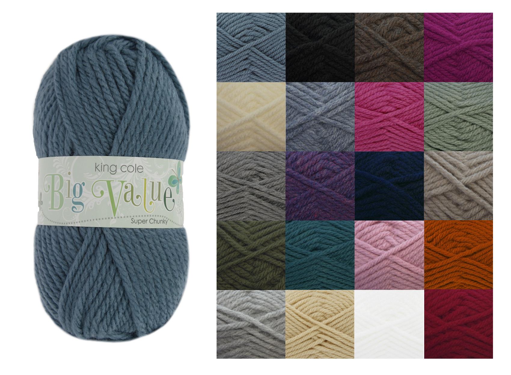 Chunky Yarn : king-cole-big-value-super-chunky-yarn-wool-20-shades-group-image.jpg