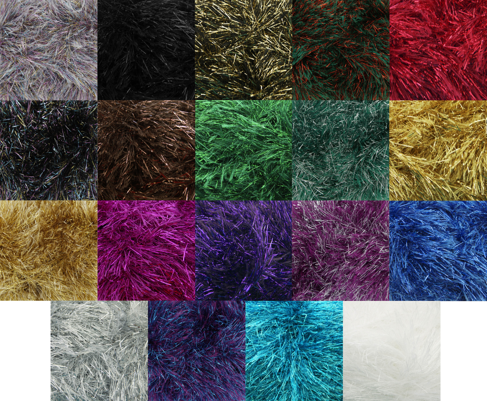 King Cole 50g Ball Tinsel Chunky Knitting Wool Festive Yarn Free Scarf Patter...
