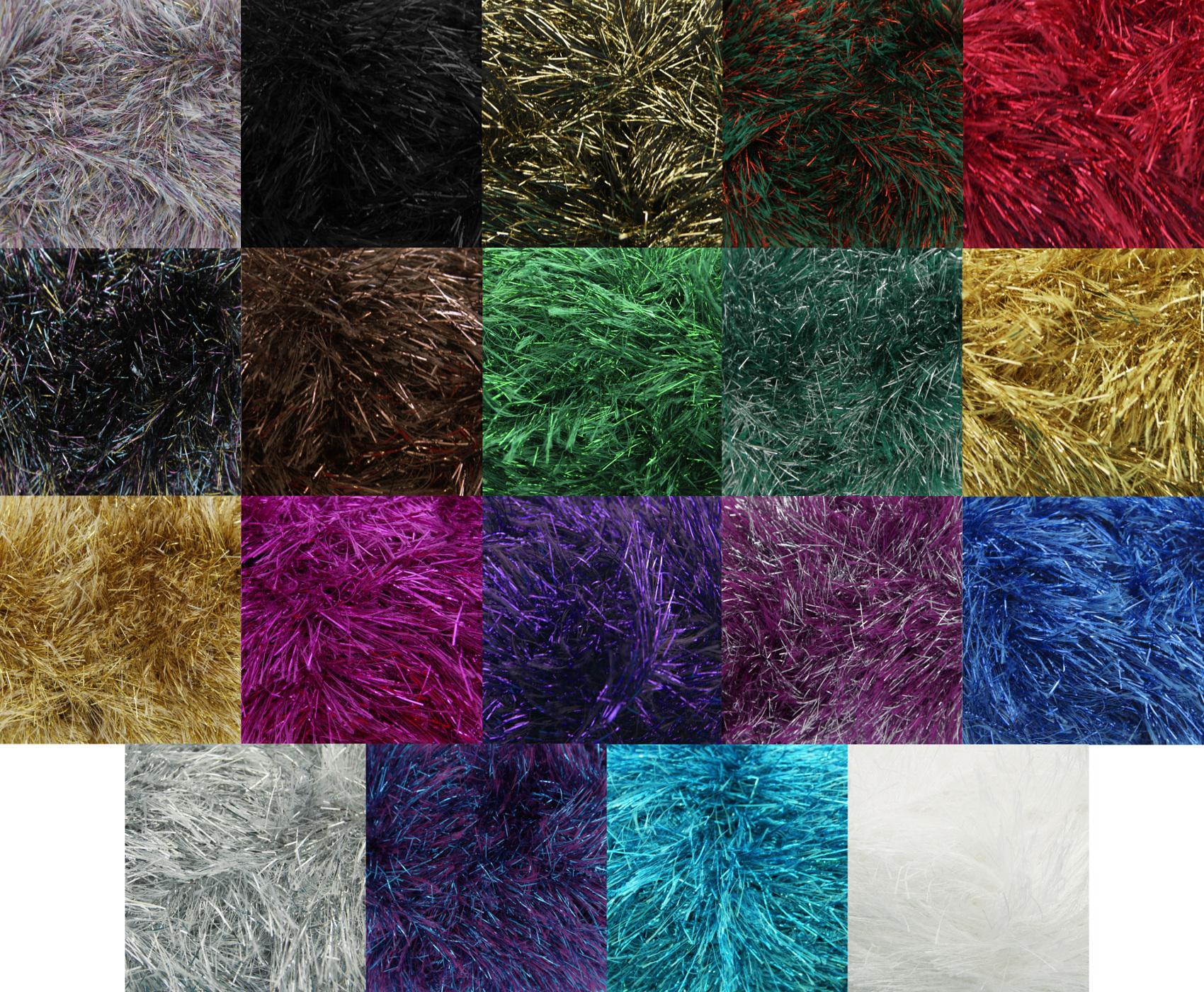 Free King Cole Knitting Patterns : King Cole 50g Ball Tinsel Chunky Knitting Wool Festive Yarn Free Scarf Patter...