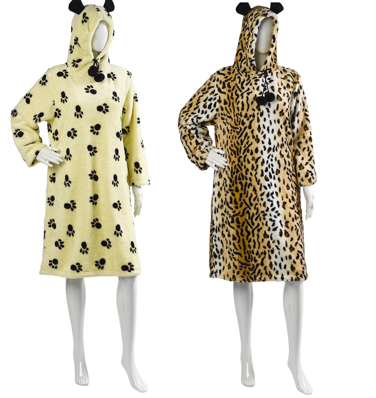 Women's Hooded Bathrobe Plush Robe With Animal Print $ 25 out of 5 stars Turquaz Linen. Cotton Terry Velour Polka Dot and Animal Print Spa, Bath, Pool, Gym Towel Body Wrap with Adjustable Velcro $ 19 out of 5 stars 7. Casual Moments. Women's 39 Inch Shawl Collar Leopard Wrap.