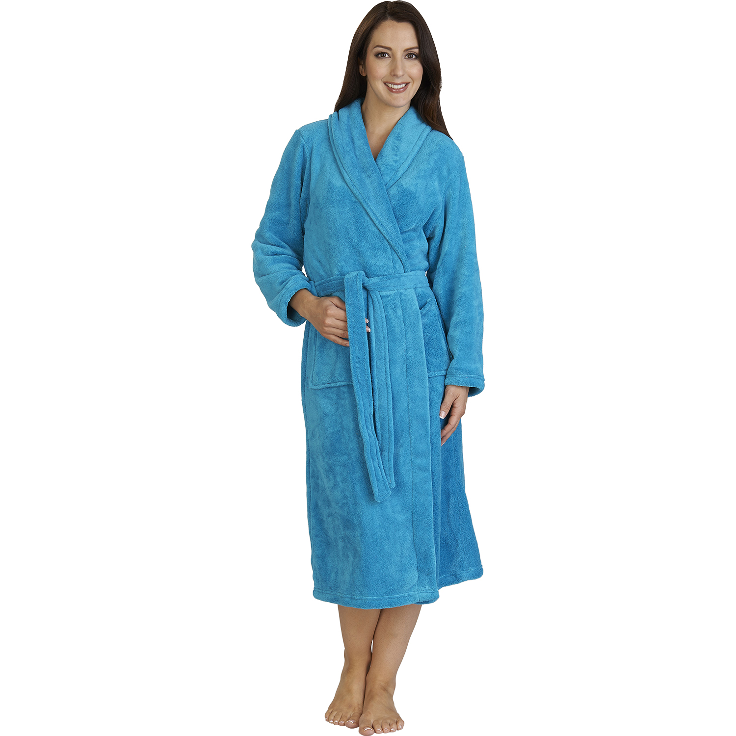 Bathrobe: Womens Luxury Gift Wrapped Bathrobe Ladies Soft