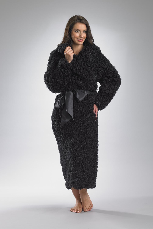 Womens Slenderella Bath Robe Ladies Thick Soft Mongolian Fleece ...