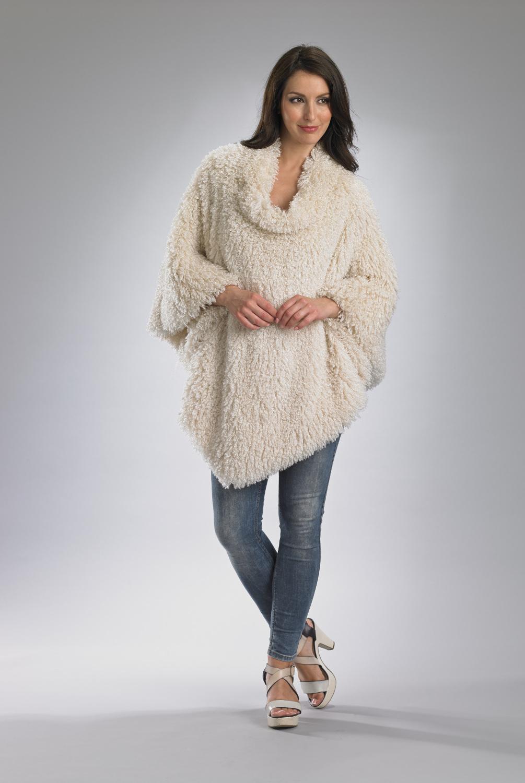 damen luxus poncho winter mantel slenderella weiche. Black Bedroom Furniture Sets. Home Design Ideas