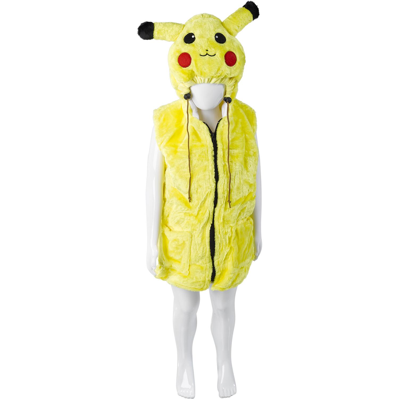 Boys Pikachu Pokemon Style Coat Girls Soft Hooded Winter