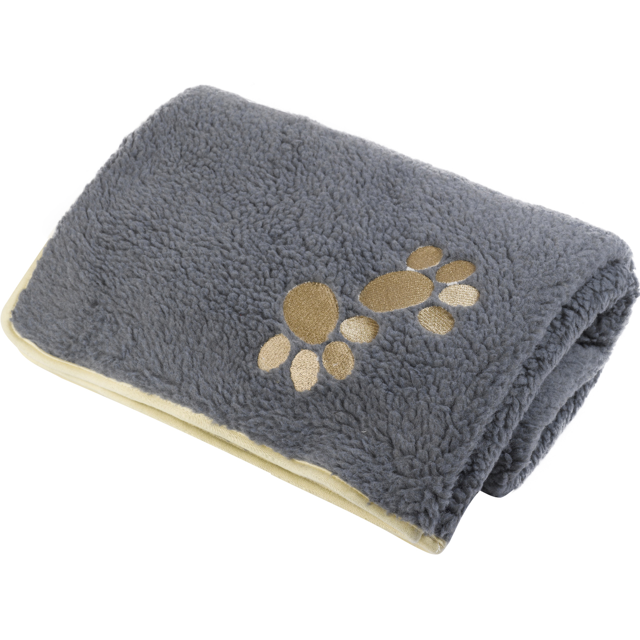Pet Face Soft Sherpa Fleece Dog Blanket Warm Cosy Paw
