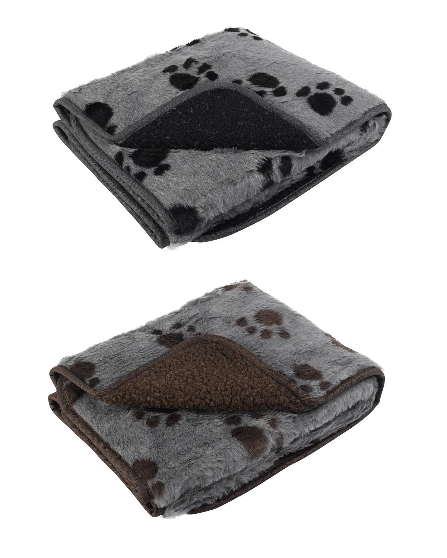 Pet face sherpa fleece dog blanket comforter warm faux fur for Sherpa blanket