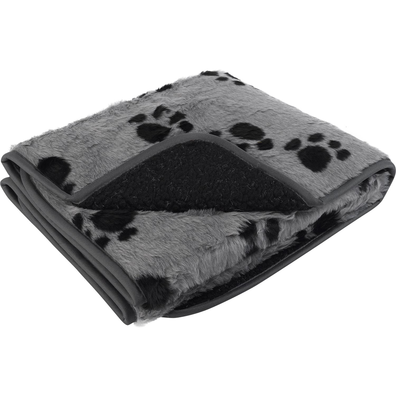 Pet Face Sherpa Fleece Dog Blanket Comforter Warm Faux Fur