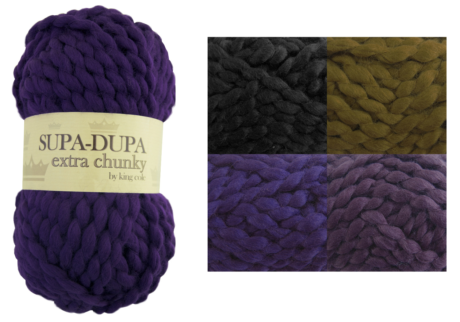 King Cole Supa Dupa Extra Chunky Knitting Yarn Soft Knit Acrylic Wool ...