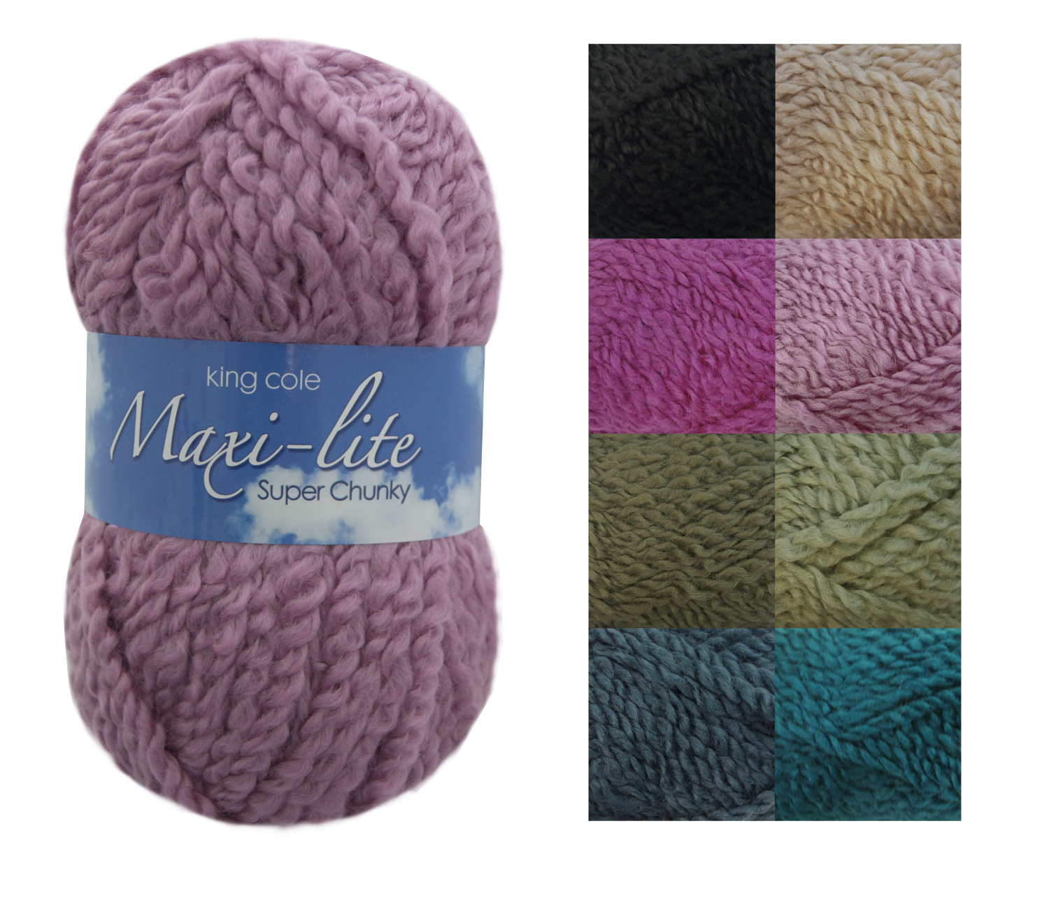 Chunky Yarn : ... 100g Ball Maxi Lite Chunky Knitting Yarn Super Soft Acrylic Wool Knit