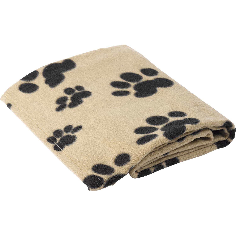 puppy dog soft fleecy paw print comfort blanket polar fleece kitten