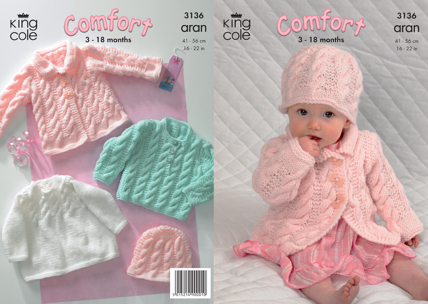 Baby Coat Dress Sweater & Hat Knitting Pattern King Cole ...